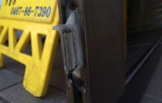 自動ドア修理振れ止め交換 昭和ドアー