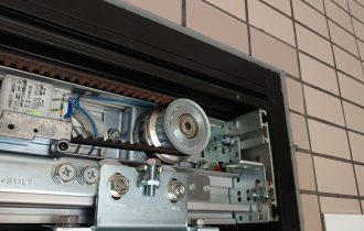 自動ドア電磁錠プーリーロック