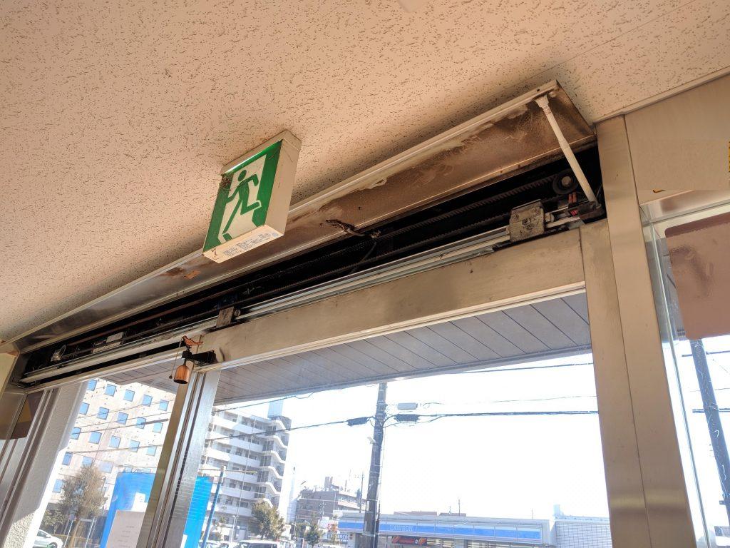 自動ドアの吊車交換